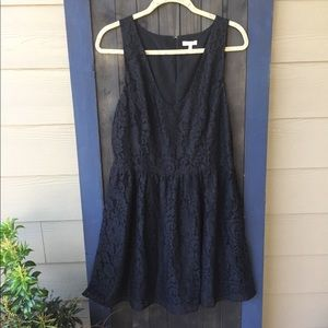 Black Joie black lace dress size L.